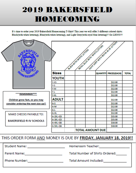 2019 Homecoming T-shirt