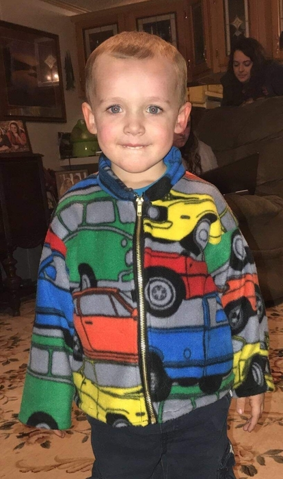 Students in Mrs Pickle's sewing class have been working on zipper projects. Cierra Carter made a jacket for her nephew, Jace.