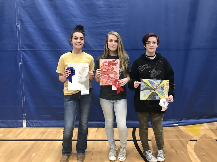 Middle school art show winners