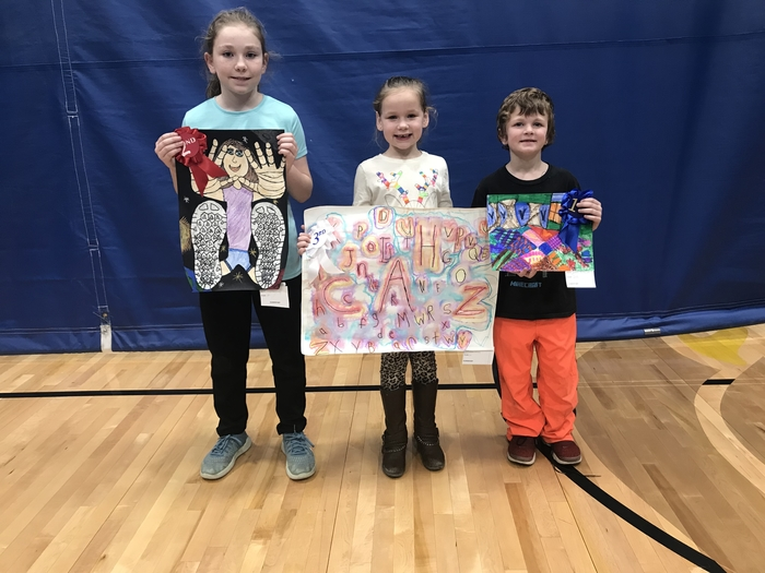 Elementary art show winners
