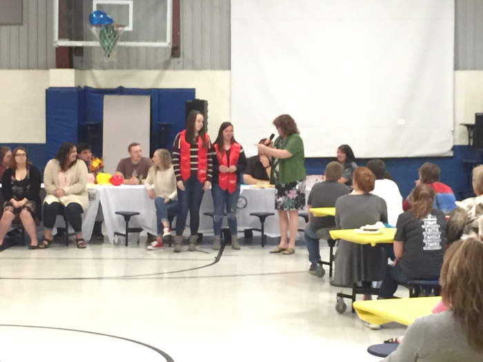 FCCLA  seniors get recognized by Mrs. Pickle
