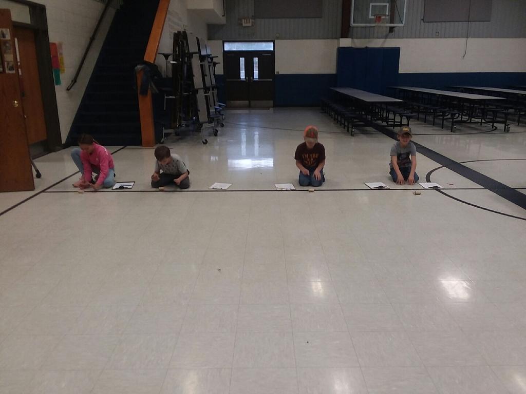 Spool Car Race...1st place Teagan, 2nd place Zoey, and tie for 3rd place Troy and Bryton
