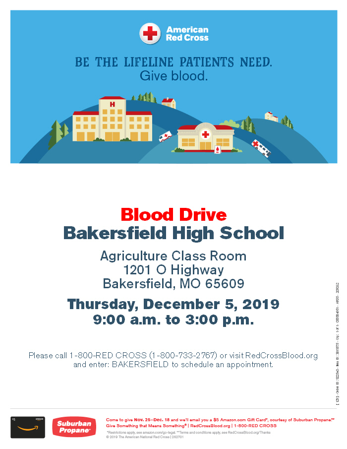 FFA Blood Drive Flyer