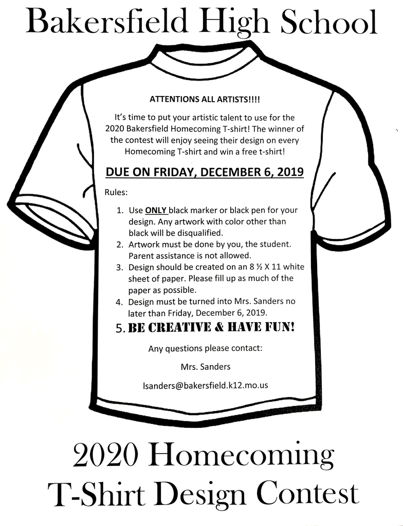 2020 Homecoming T-Shirt contest