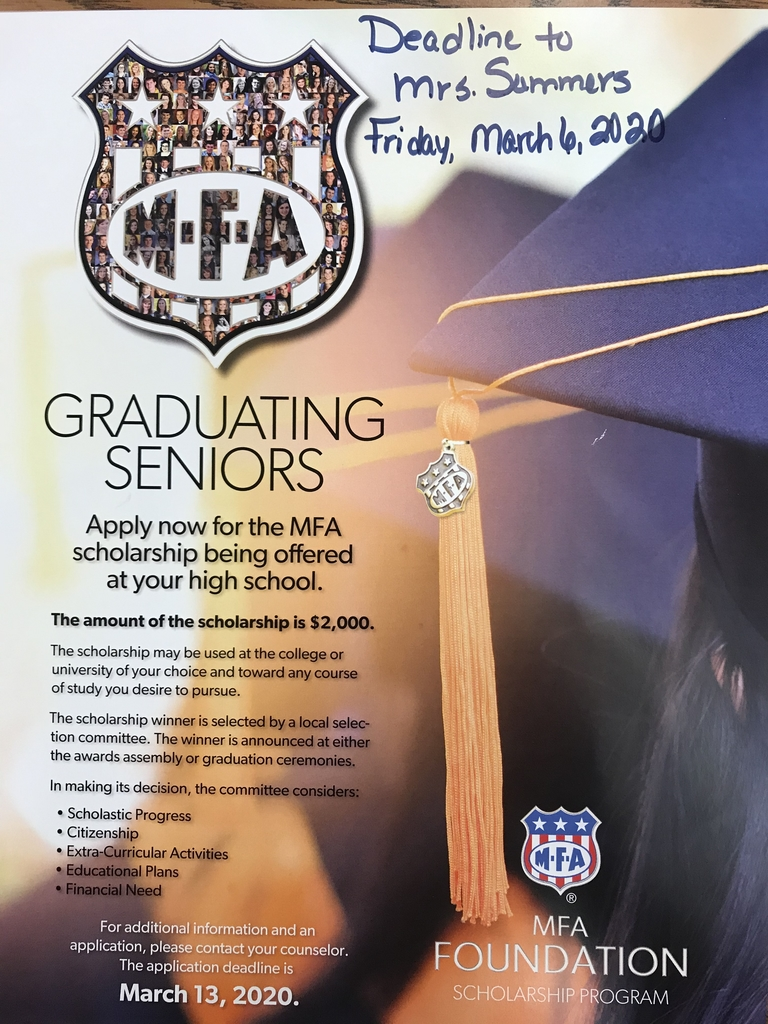 Scholarship opportunity for BHS Seniors