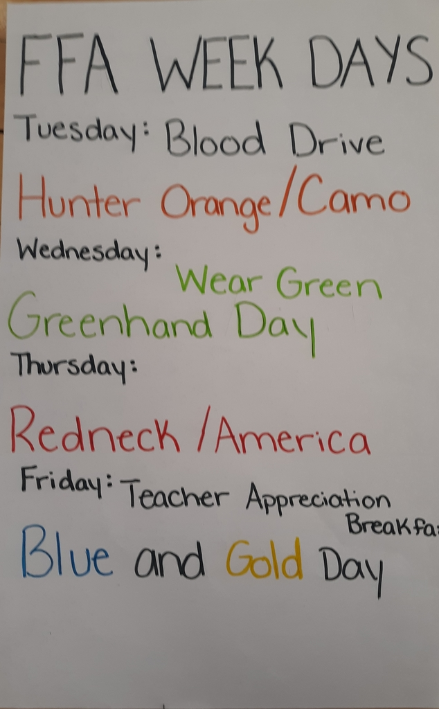 FFA weeks spirit days